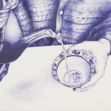 Amulets- Cup.  Ballpoint pen. 21 x 29 cm. 2015