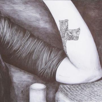 Amulets- Tattoo. Ballpoint pen. 21 x 29 cm. 2015