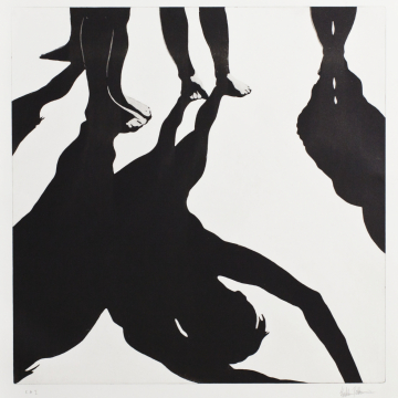 Shadow dance I. Aquatint. 50 x 50 cm. 2013