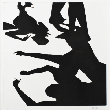Shadow dance V. Aquatint. 50 x 50 cm. 2013