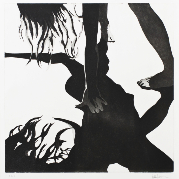 Shadow dance X. Aquatint. 50 x 50 cm. 2013