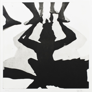Shadow dance VII. Aquatint. 50 x 50 cm. 2013