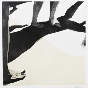 Shadow dance VI. Aquatint, chine collé. 50 x 50 cm. 2013