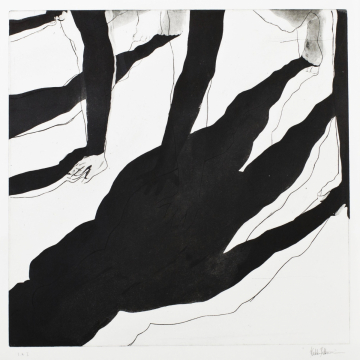 Shadow dance II. Etching, aquatint. 50 x 50 cm. 2013